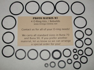 Proto Matrix M7 O-ring Kit - 4 Rebuilds