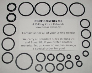 Proto Matrix M8 O-ring Kit - 4 Rebuilds
