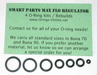 Smart Parts - Maxflo Regulator O-ring kit 2 rebuilds