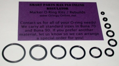 Smart Parts Max Flo Inline Regulator O-ring Kit - 4 Rebuilds
