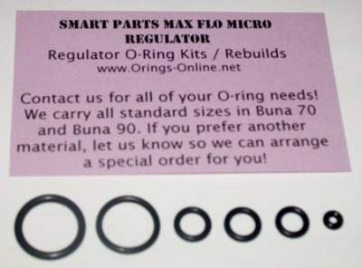 Smart Parts Max Flo Micro Regulator O-ring Kit - 4 Rebuilds
