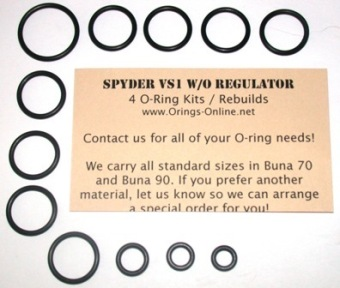Spyder VS1 Marker O-ring kit 4 rebuilds