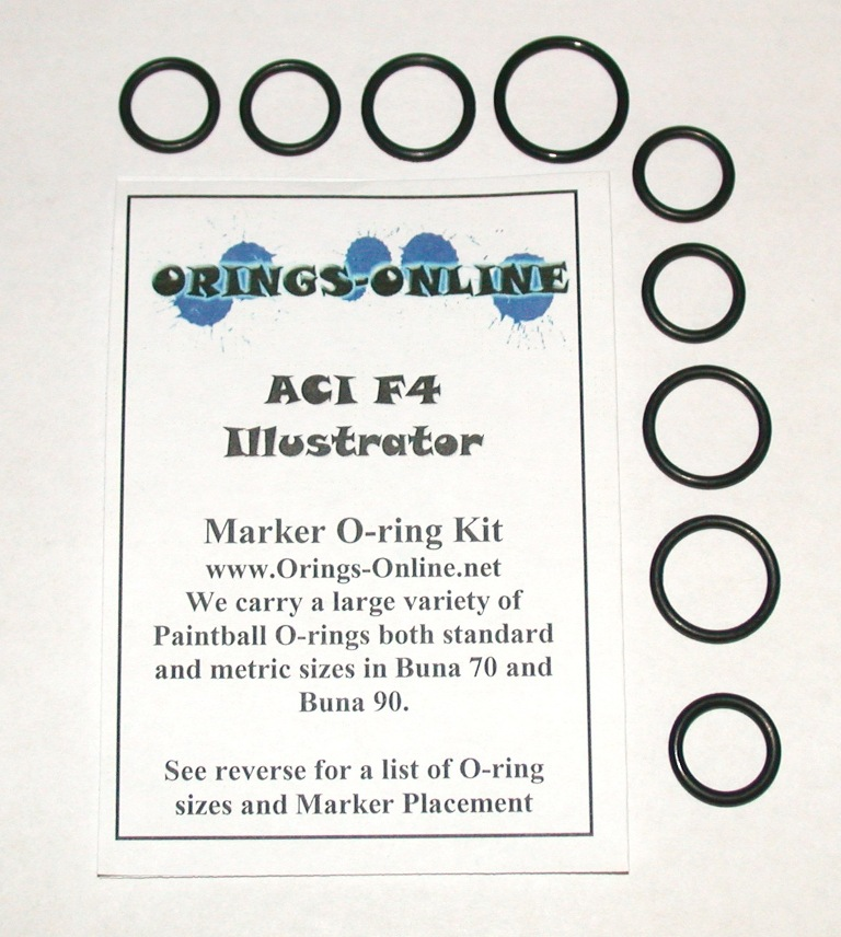 ACI F4 Illustrator Marker O-ring Kit
