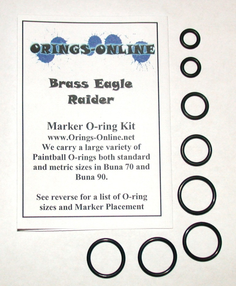 Brass Eagle Raider Marker O-ring Kit