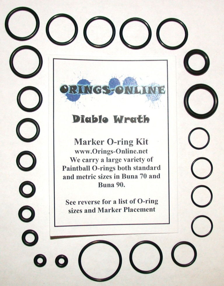 Diablo Wrath Marker O-ring Kit
