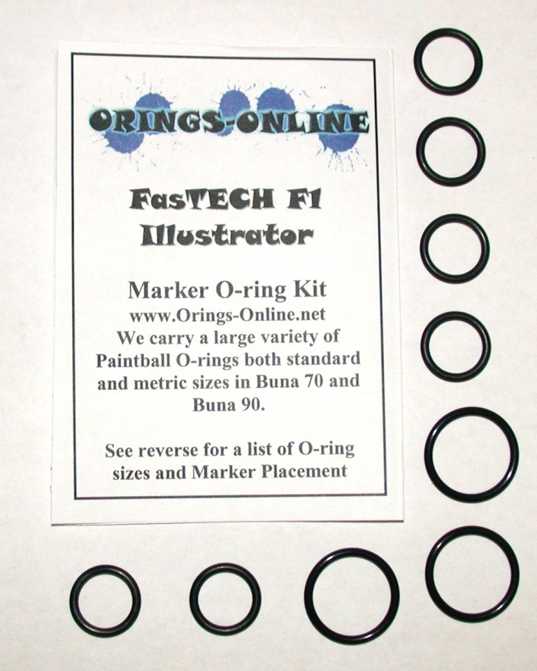 Fastech F1 Illustrator Marker O-ring Kit