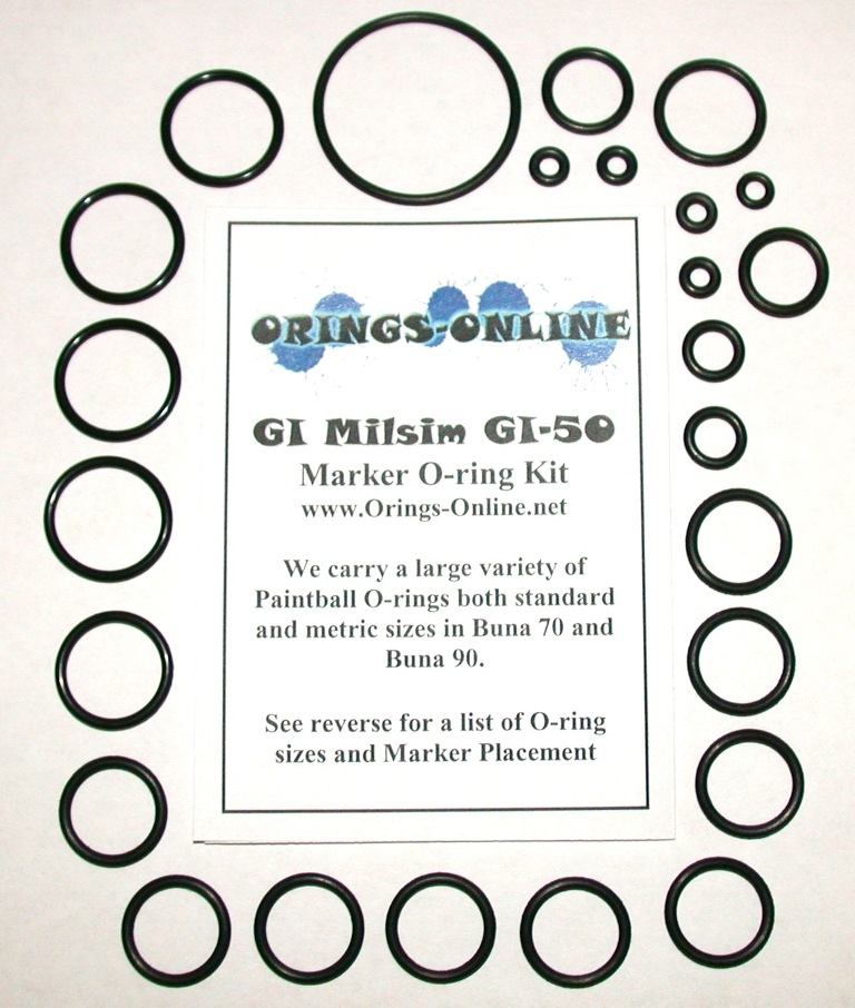 GI Milsim GI-50 Marker O-ring Kit
