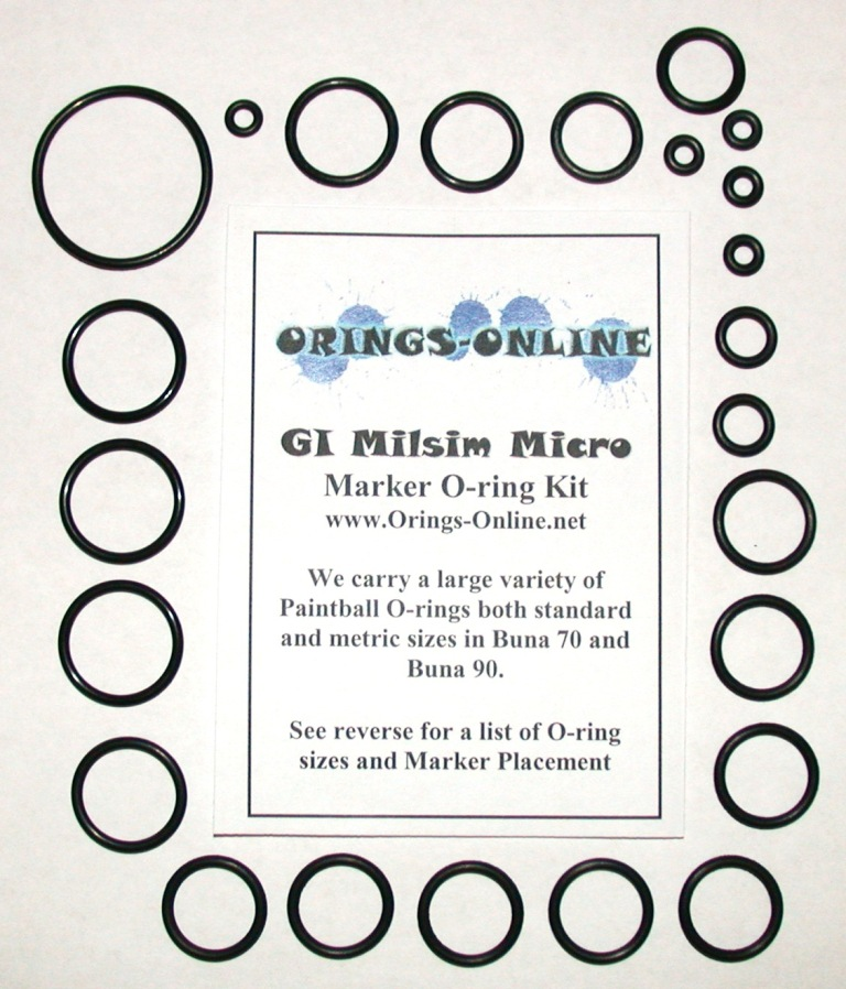 GI Milsim Micro Marker O-ring Kit