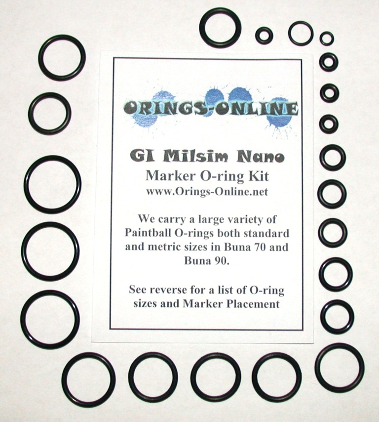 GI Milsim Nano Marker O-ring Kit