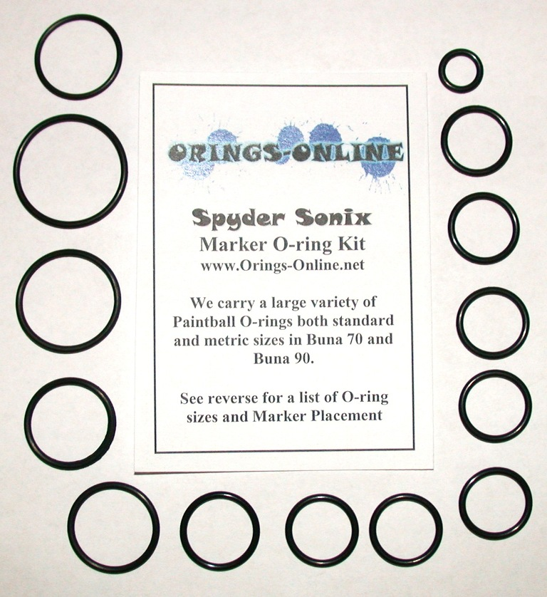 Spyder Sonix Marker O-ring Kit