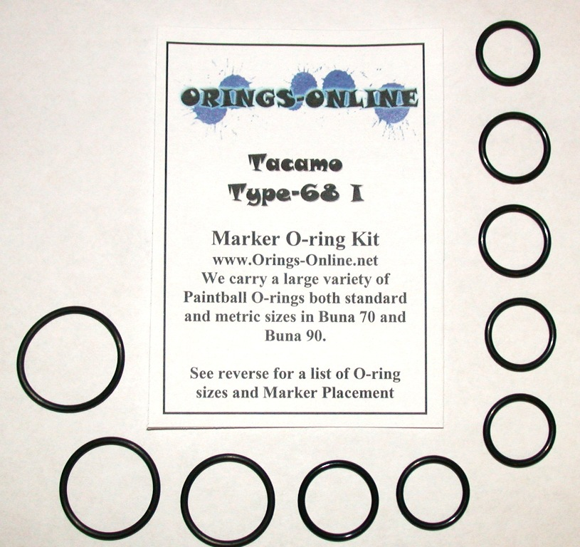 Tacamo Type-68 I Marker O-ring Kit