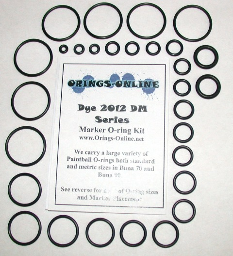 DYE 2012 DM Series Marker O-ring Kit
