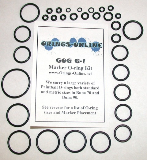 Gog G1 Marker O-ring Kit