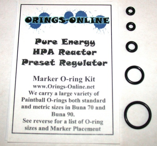Pure Energy HPA Reactor Regulator O-ring Kit
